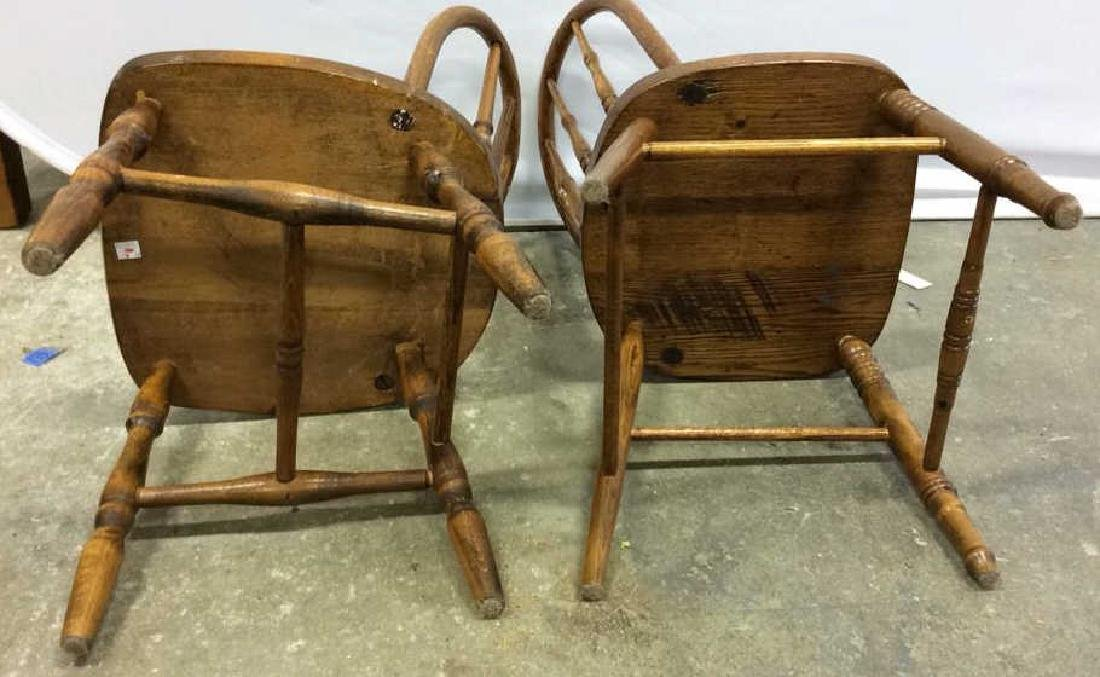 Pair Children's Windsor Style Chairs Pair of vintage - 5