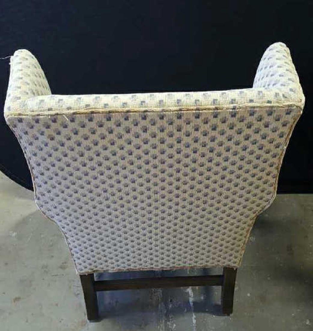 Pair of Upholstered Wing Chairs Pair of Upholstered - 6