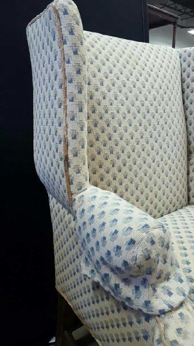 Pair of Upholstered Wing Chairs Pair of Upholstered - 8