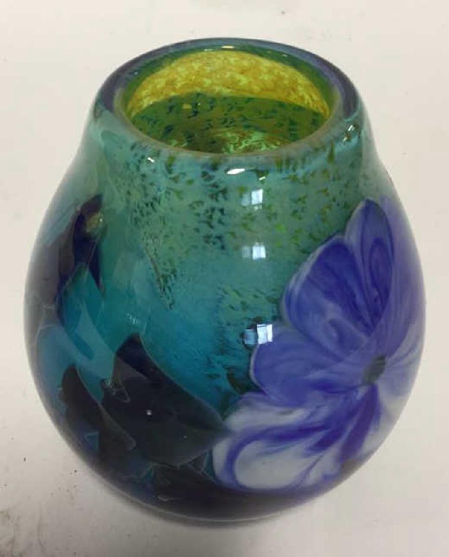 Handmade Josh Simpson Glass Vase Blown handmade glass - 4
