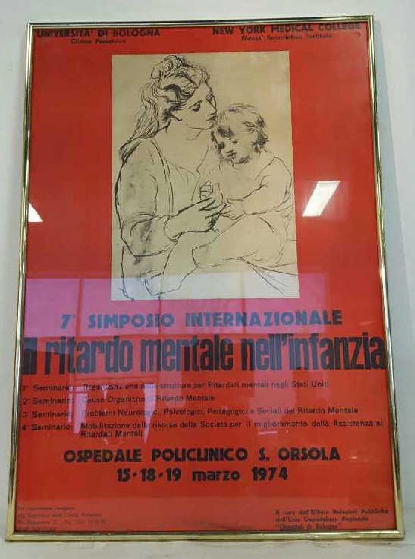 Vintage Italian Framed Poster Vintage fund-raising