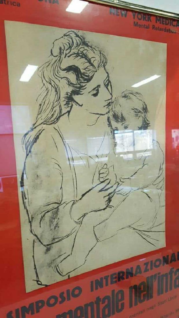 Vintage Italian Framed Poster Vintage fund-raising - 2