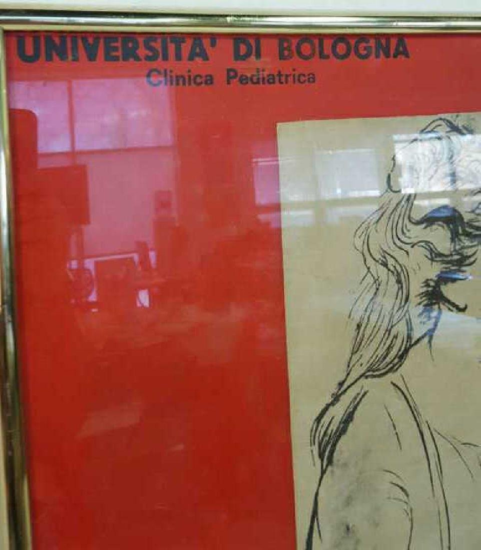 Vintage Italian Framed Poster Vintage fund-raising - 3