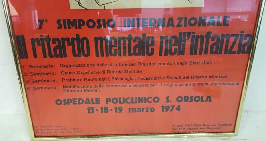 Vintage Italian Framed Poster Vintage fund-raising - 5