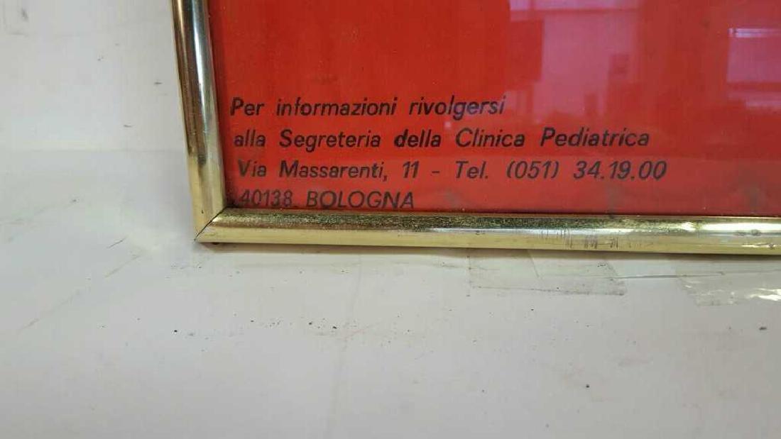 Vintage Italian Framed Poster Vintage fund-raising - 6