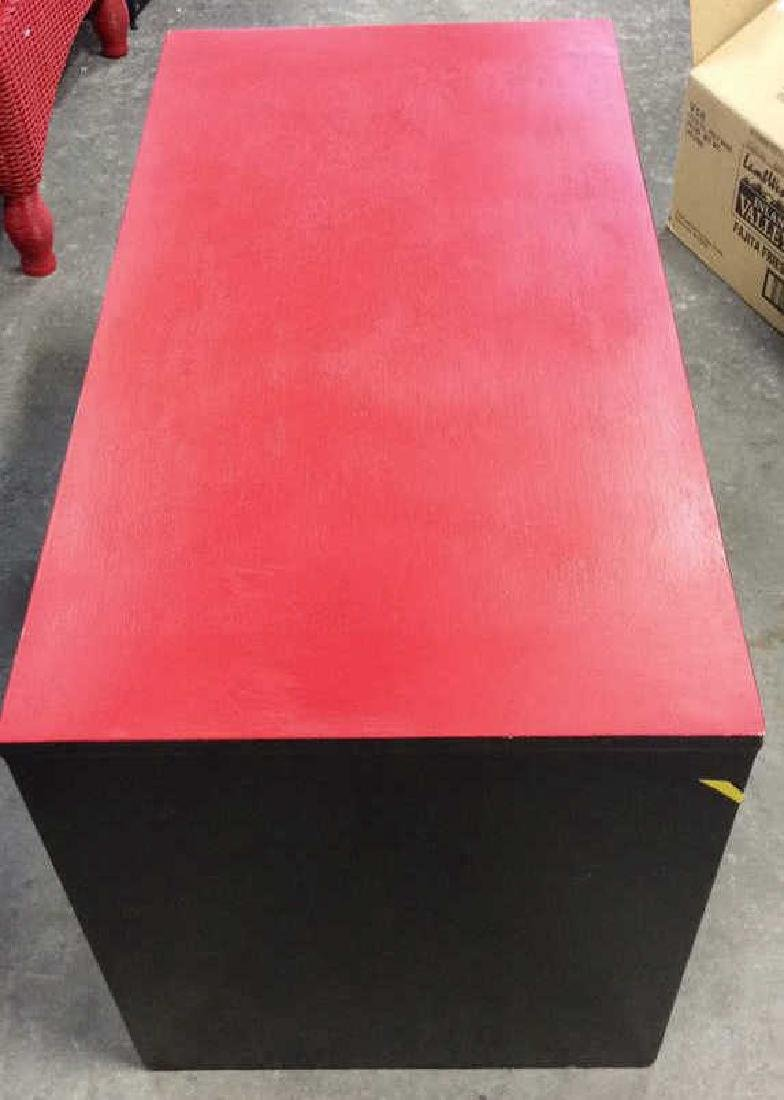 Mid Painted Red Black Low Table Graphic pop red black - 4