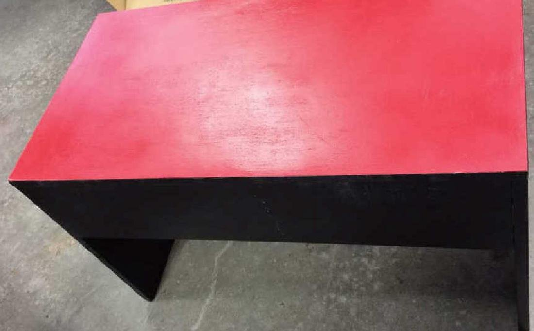 Mid Painted Red Black Low Table Graphic pop red black - 5