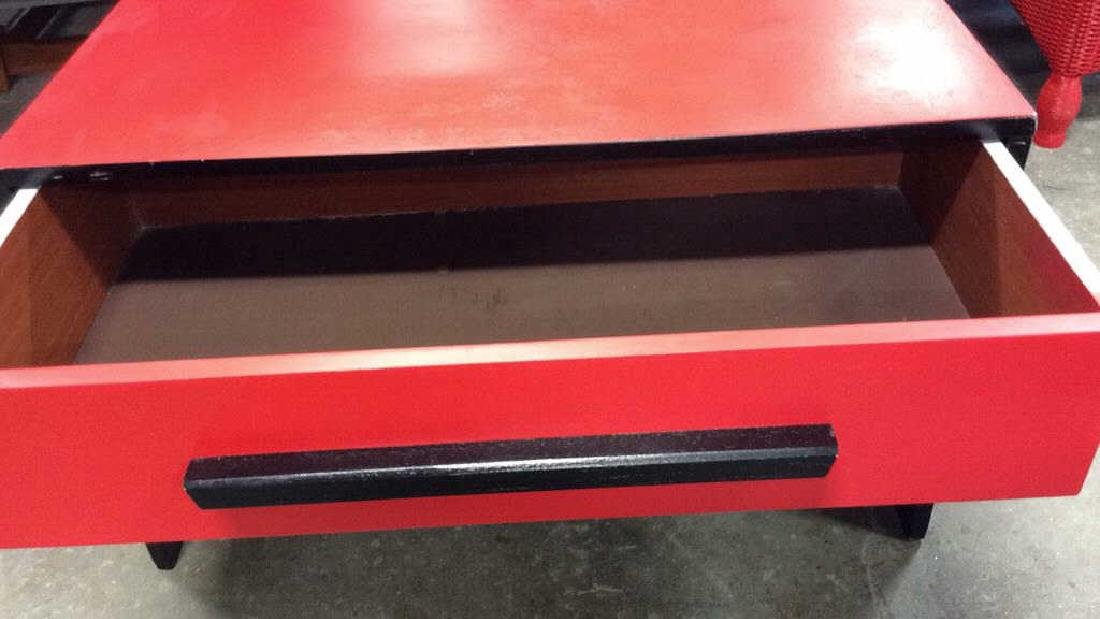Mid Painted Red Black Low Table Graphic pop red black - 7