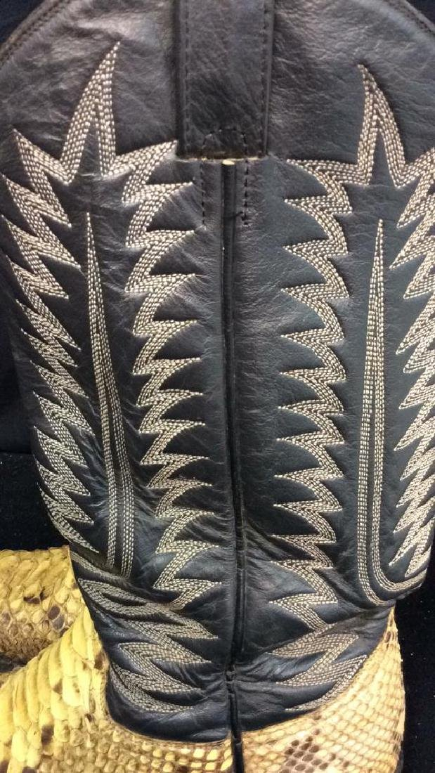Tooled Leather and Snake Skin  Cowboy Boots Inside - 5