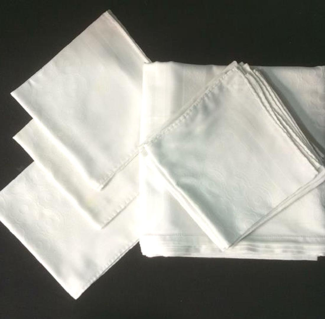 Group White Vintage Table Clothes Pads and Napkins - 2
