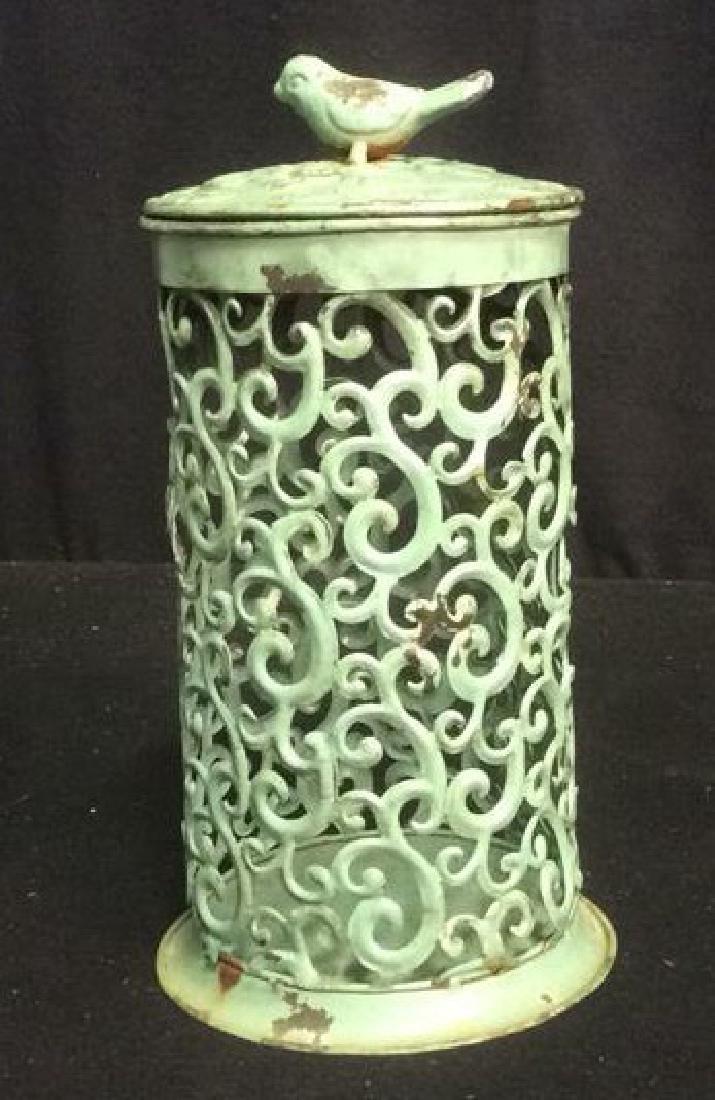 7 Metal Candle Holder Lanterns Group of metal filigree - 5