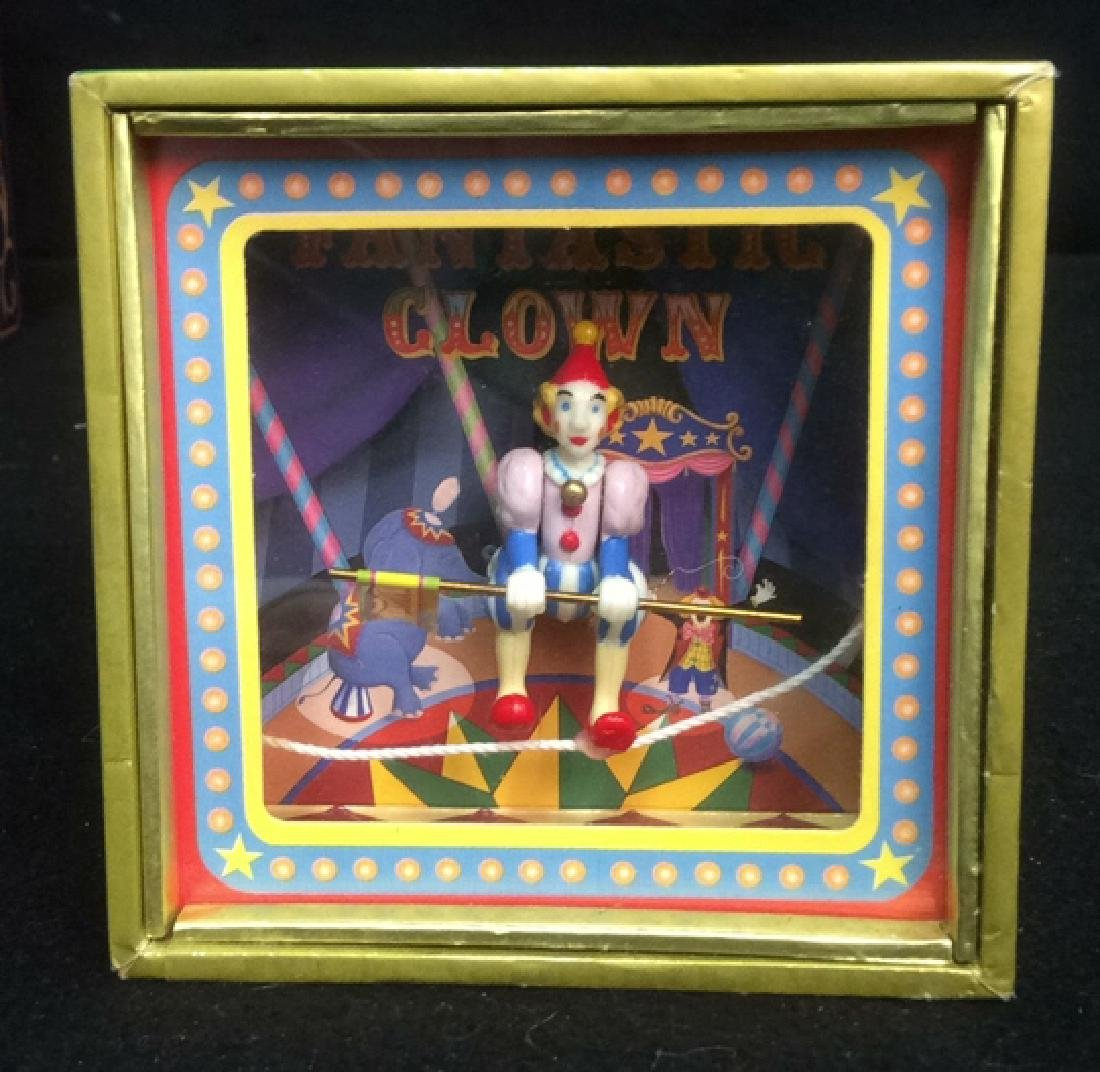 Group of 4 Clown Theme Music Boxes Animated and - 3