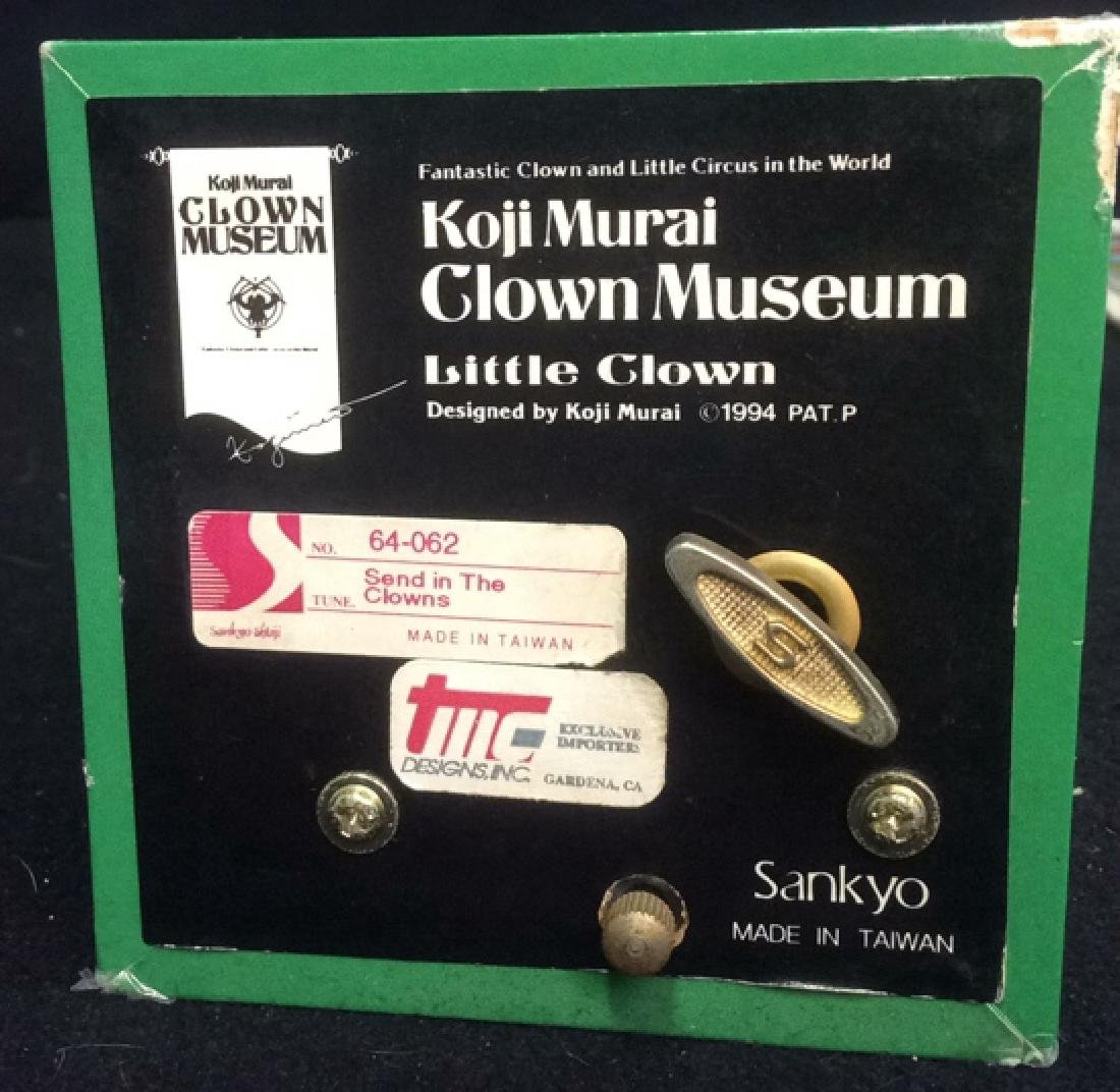 Group of 4 Clown Theme Music Boxes Animated and - 4