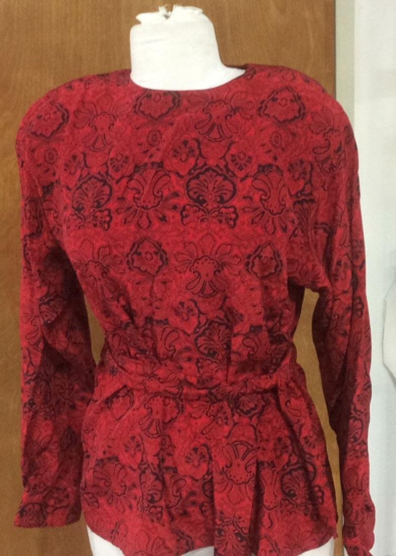 Group Lot Vintage Women's Clothing in Reds 5 items with