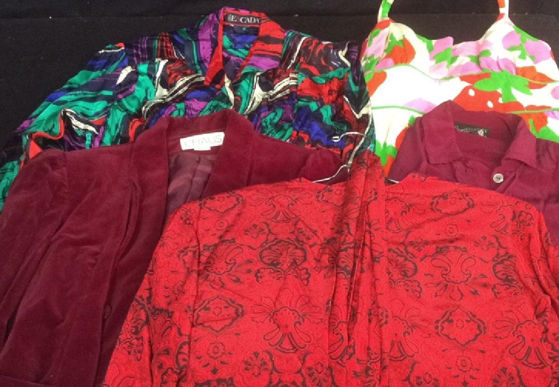 Group Lot Vintage Women's Clothing in Reds 5 items with - 7
