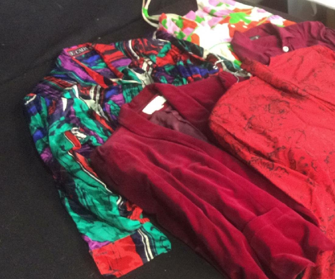 Group Lot Vintage Women's Clothing in Reds 5 items with - 8