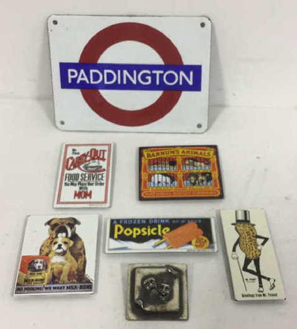 Vintage Group Lot Of Magnets, Pin, Sign Vintage lot