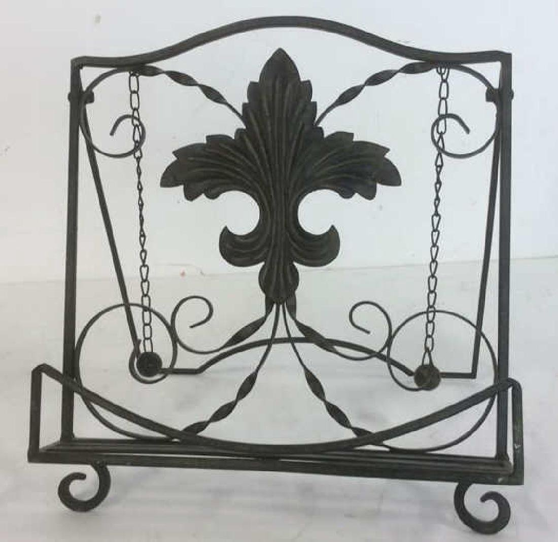 Metal Ornate Book Stand Metal, possibly iron, book