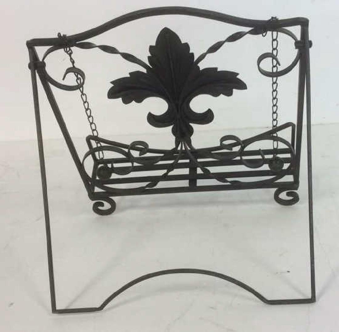 Metal Ornate Book Stand Metal, possibly iron, book - 3