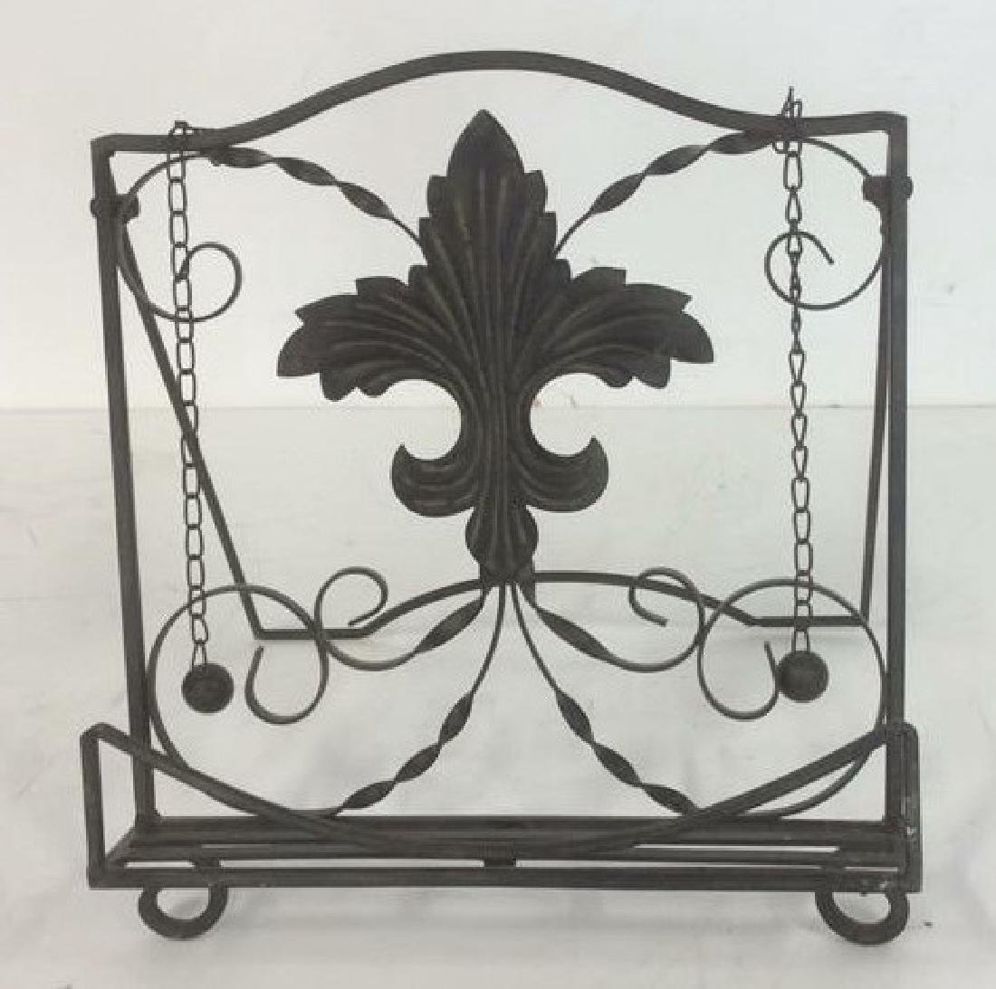 Metal Ornate Book Stand Metal, possibly iron, book - 4