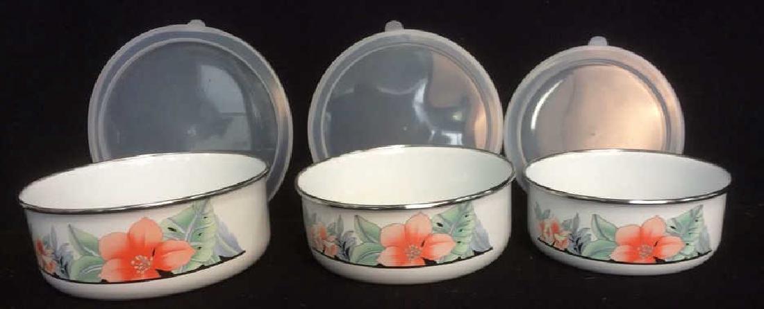 Mixing Bowl Set with Floral Motif 6 piece mixing bowl