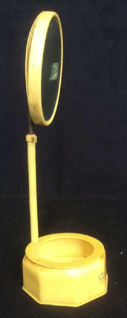 Bakelite Vanity Mirror With Bowl Dish Base Unique - 3