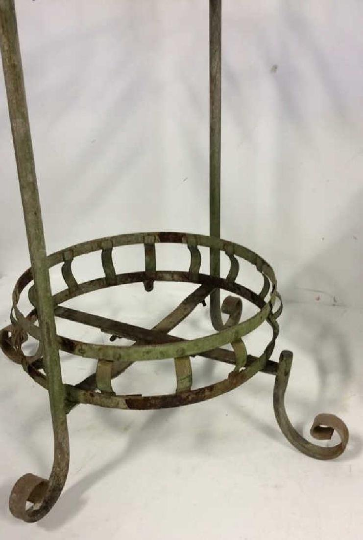 2 Tiered Vintage Metal Plant Stand Scrolled feet - 2