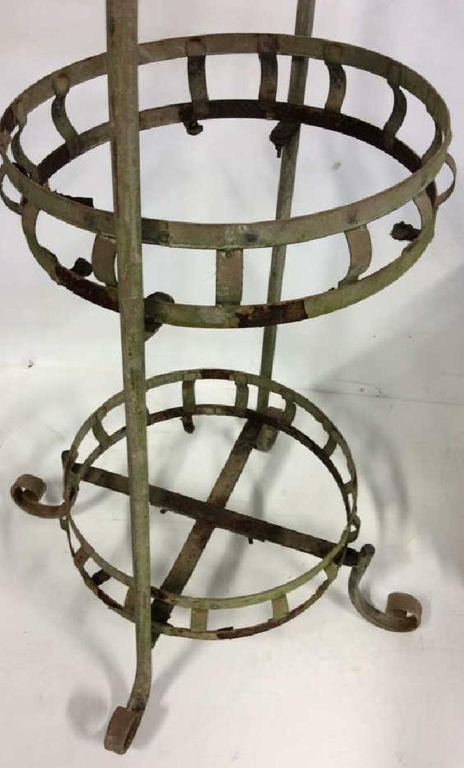 2 Tiered Vintage Metal Plant Stand Scrolled feet - 3