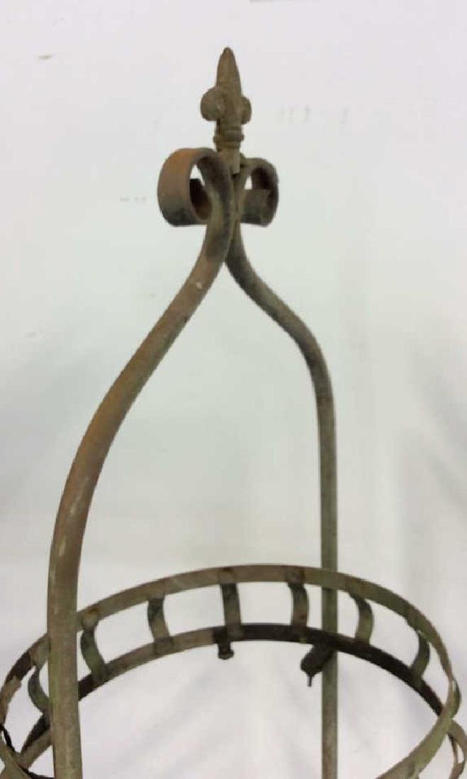 2 Tiered Vintage Metal Plant Stand Scrolled feet - 4