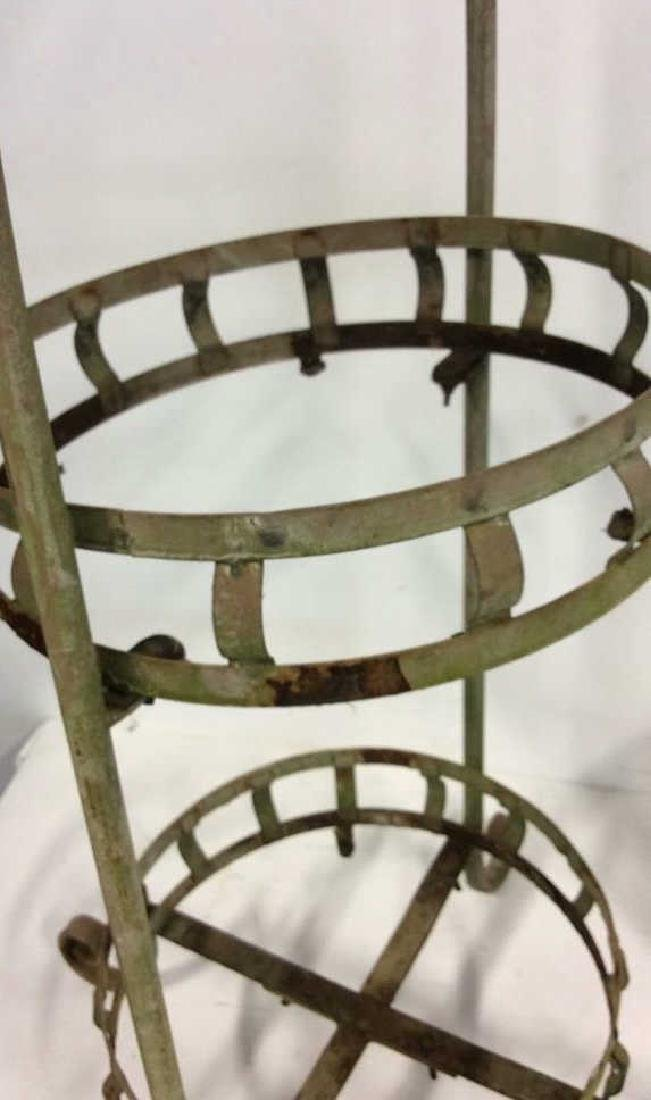 2 Tiered Vintage Metal Plant Stand Scrolled feet - 5