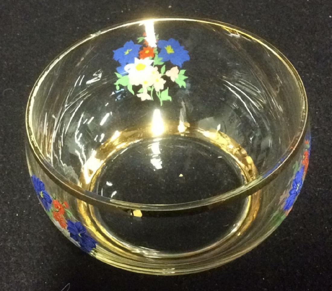 Floral Glass Creamer Sugar Set Delicate Glass set of - 2