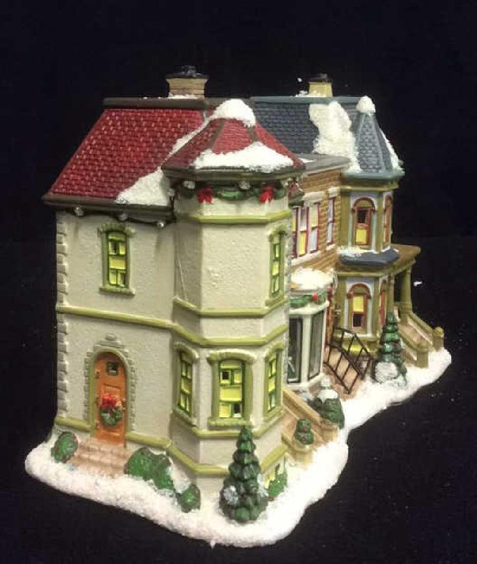 Holiday Lighted Ceramic City Row House From The Village - 2