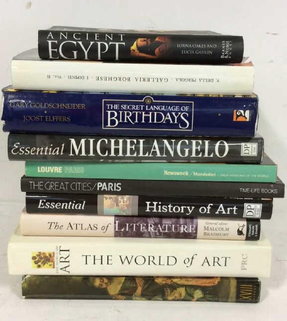 Group Art Coffee Table Books Group Lot has f coffee