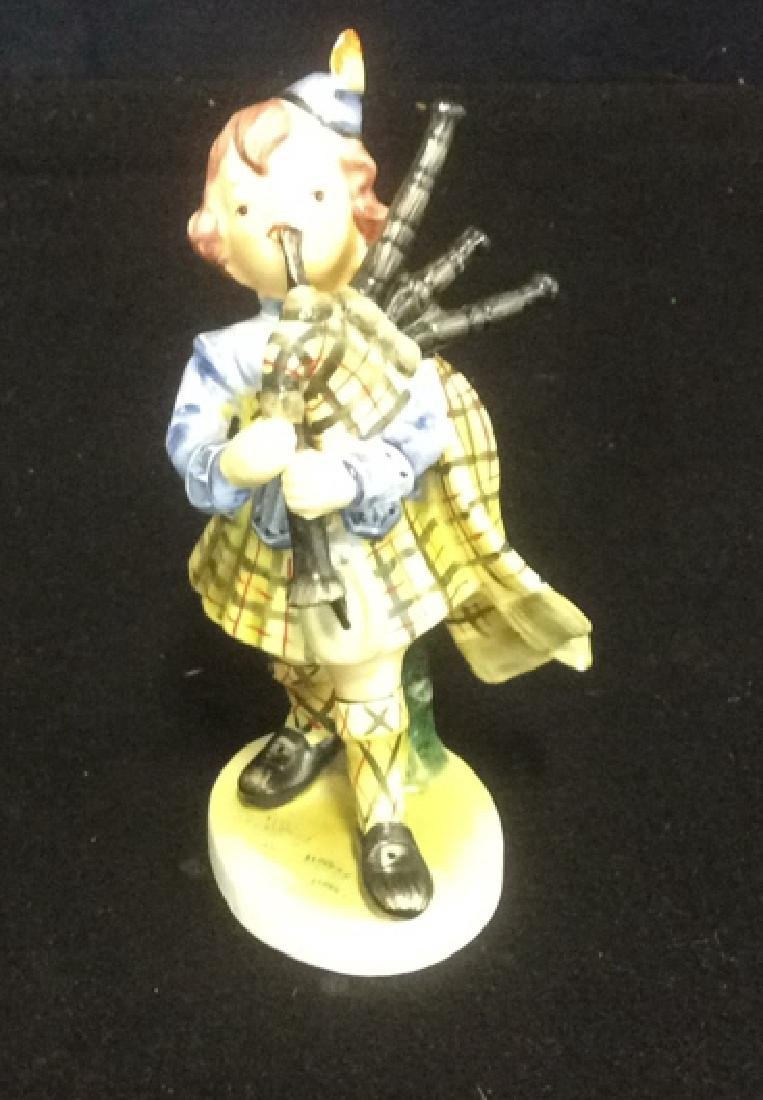 Scottish Boy Figurine Hand Painted in Matte Bisque - 2