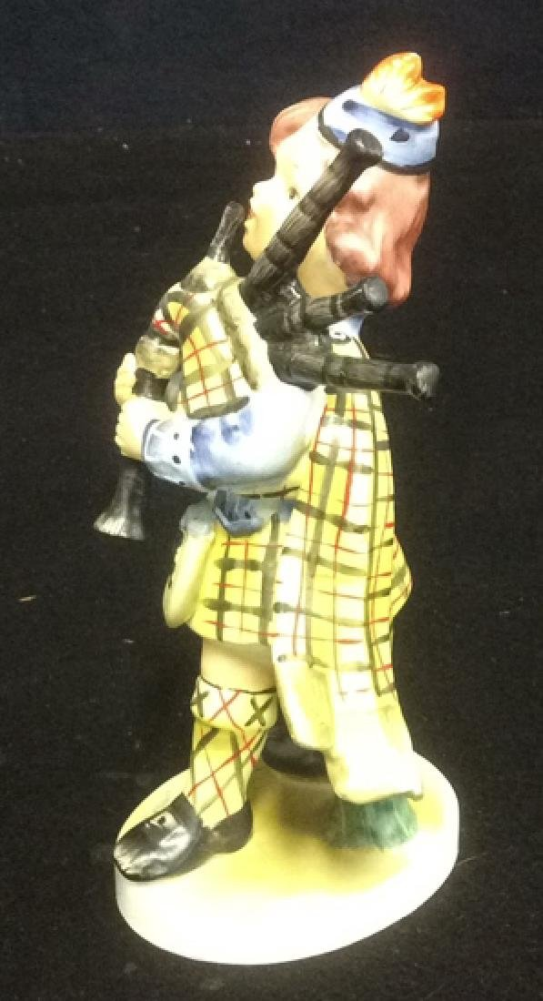 Scottish Boy Figurine Hand Painted in Matte Bisque - 3