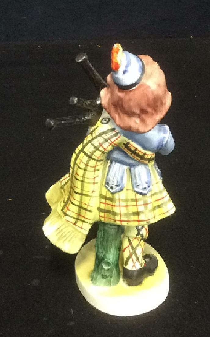 Scottish Boy Figurine Hand Painted in Matte Bisque - 4