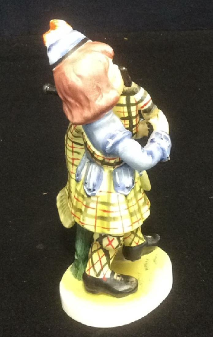 Scottish Boy Figurine Hand Painted in Matte Bisque - 5