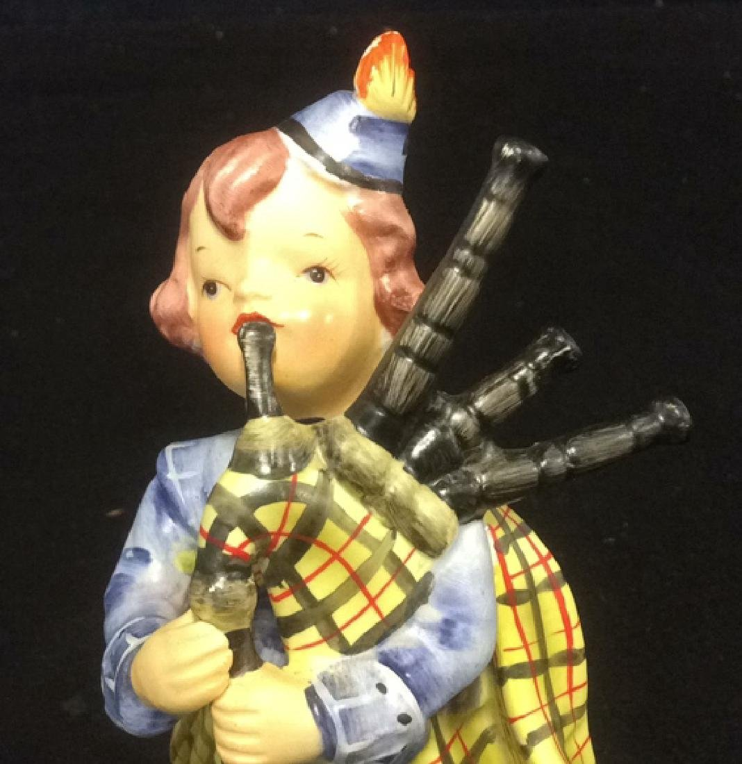 Scottish Boy Figurine Hand Painted in Matte Bisque - 6