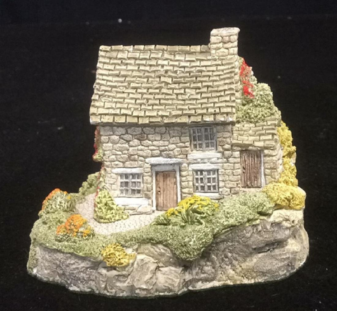 Group Miniature Houses Ceramic Collectibles Lot of 4 - 10
