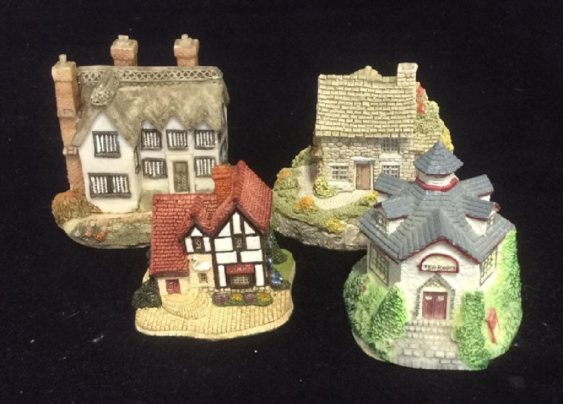 Group Miniature Houses Ceramic Collectibles Lot of 4