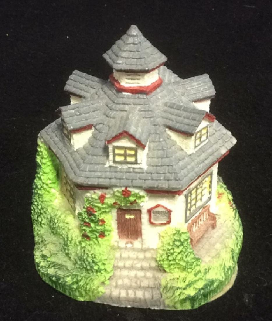 Group Miniature Houses Ceramic Collectibles Lot of 4 - 3