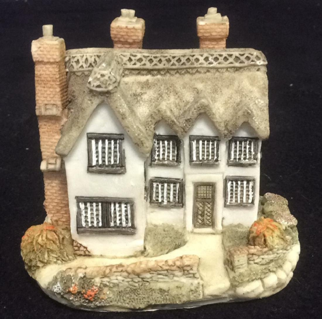 Group Miniature Houses Ceramic Collectibles Lot of 4 - 4