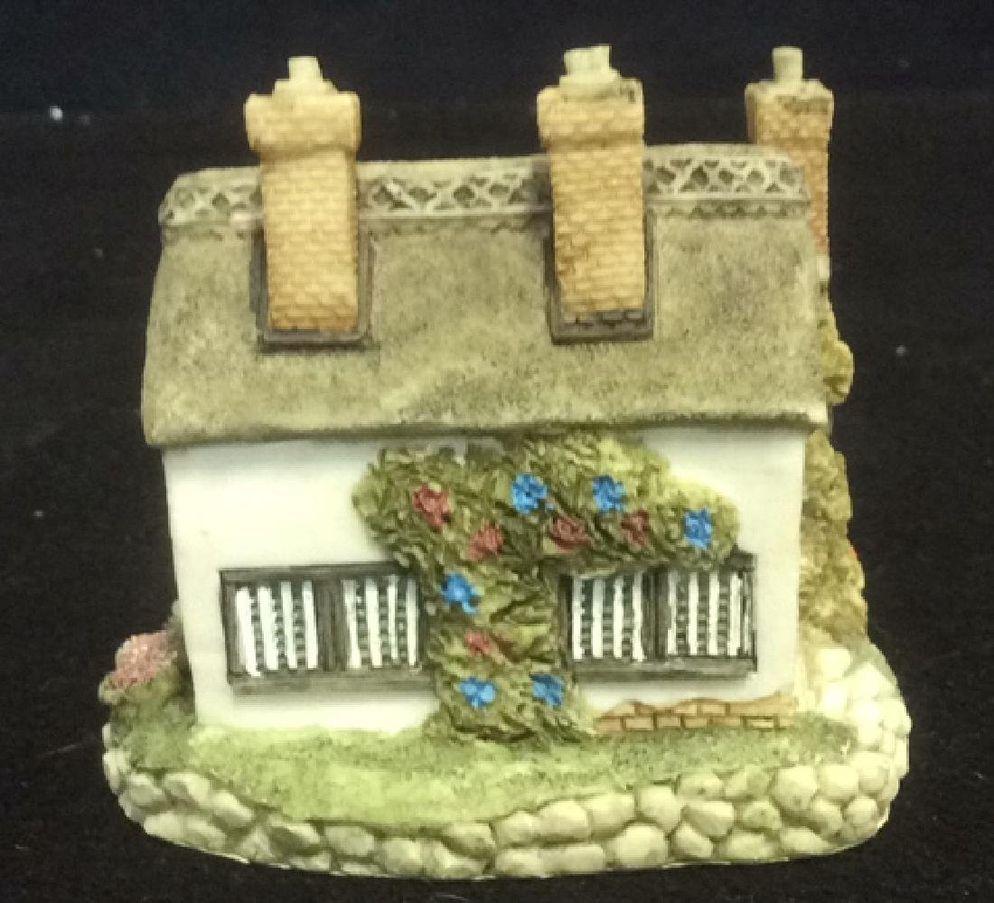 Group Miniature Houses Ceramic Collectibles Lot of 4 - 5