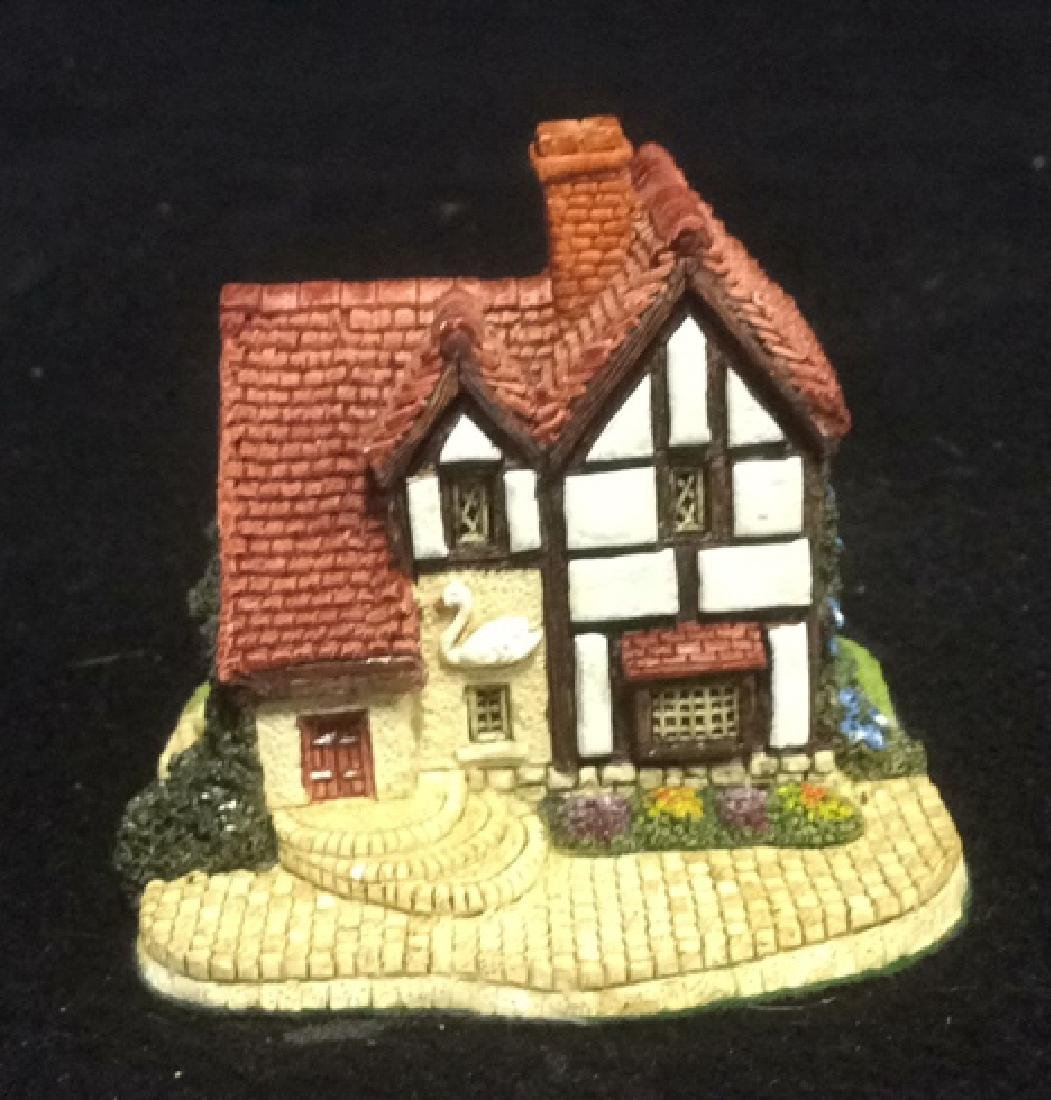 Group Miniature Houses Ceramic Collectibles Lot of 4 - 7