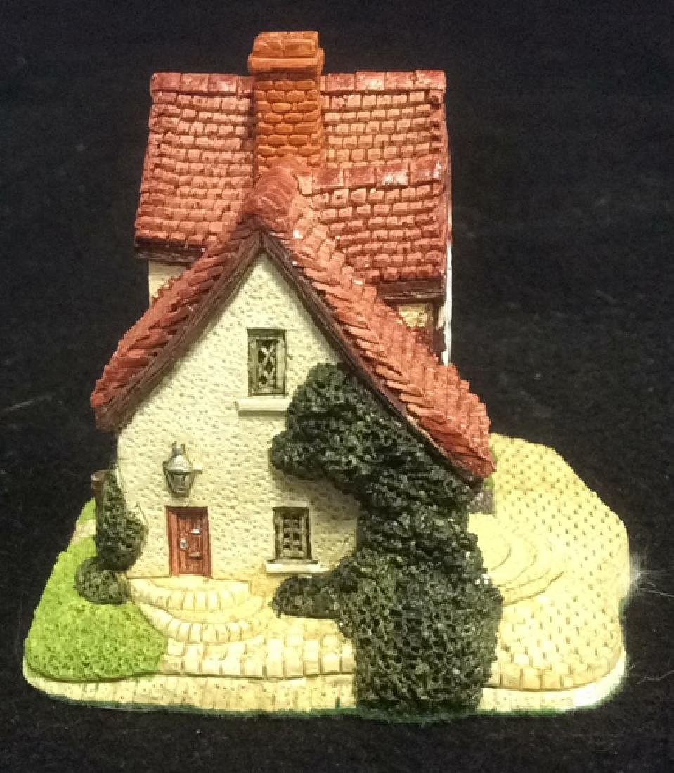 Group Miniature Houses Ceramic Collectibles Lot of 4 - 8