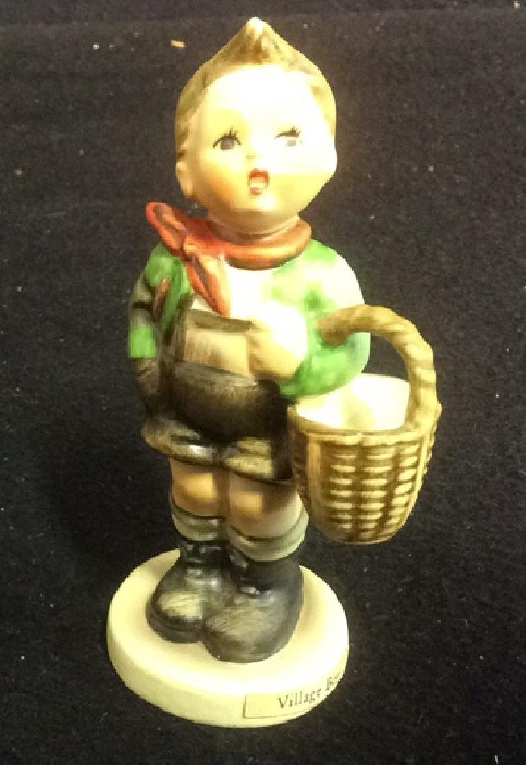 Hummel Village Boy with Basket Figurine Hummel Village