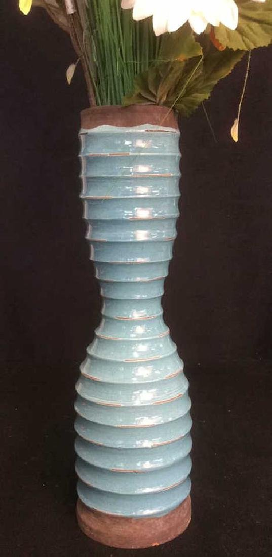 Group of Vases with Faux Flowers Lot of 3 vases with - 6