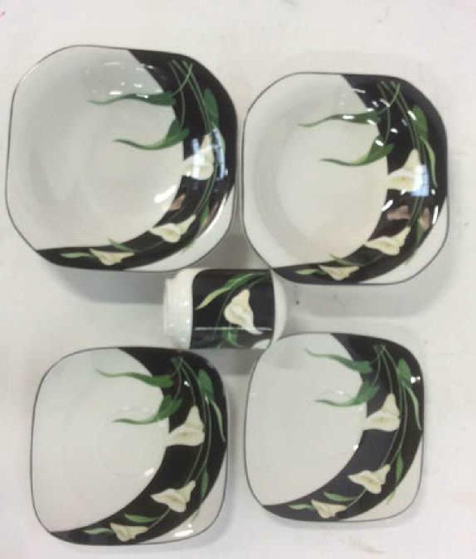 Group Black and White Stemware and Dishes Lot of 3 - 2