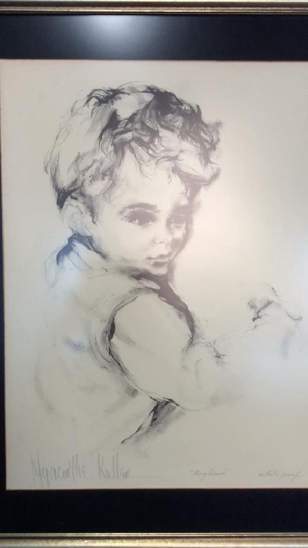Hyacinthe Kuller AP Boyhood Artwork Artists Proof - 2
