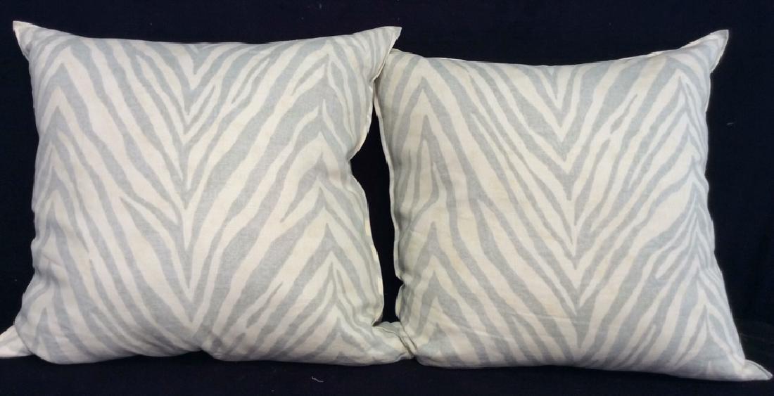 Pair light Turquoise Zebra Throw pillows Each measures